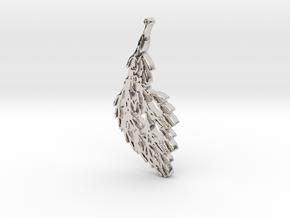 Wind in Rhodium Plated Brass
