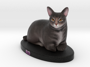 Custom Cat Figurine - Ro in Full Color Sandstone