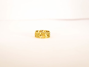 Octal Geometry  Ring Size 6 in Polished Brass
