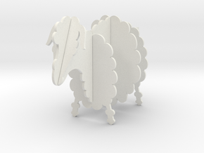 Wooden Sheep B 1:12 in White Natural Versatile Plastic