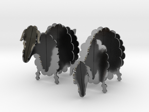 Wooden Sheep 1:24 in Polished Silver