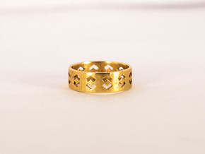 Echelon Ring Size 6 in Natural Brass