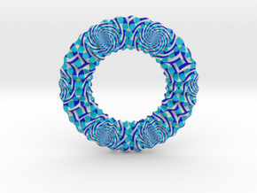 0174 Torus with pattern picture (5cm) #001 in Full Color Sandstone