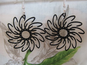 Flower 2 Earrings in Black Strong & Flexible