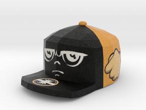 8-Bit King Face Pendant in Full Color Sandstone
