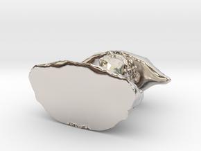 18447 in Rhodium Plated Brass