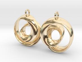 Ear-Rings-01 in 14k Gold Plated Brass