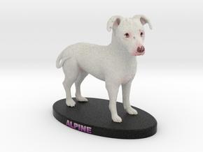 Custom Dog Figurine - Alpine in Full Color Sandstone