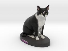 Custom Cat Figurine - Bebo in Full Color Sandstone