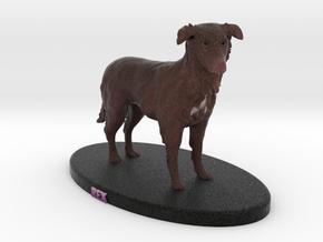Custom Dog Figurine - Rex in Full Color Sandstone