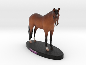 Custom Horse Figurine - Titanic in Full Color Sandstone