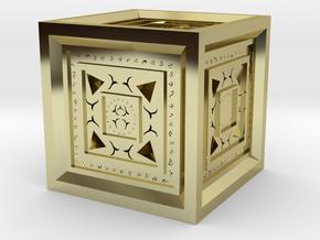 Strange Cube in 18k Gold