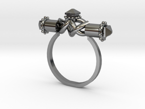 Serpent Capsule Ring - Sz. 7 in Fine Detail Polished Silver