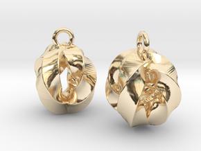 Crossing-Rings-EarRings in 14k Gold Plated Brass