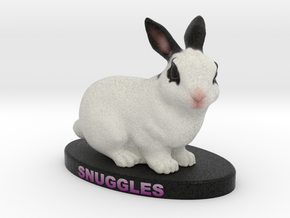 Custom Rabbit Figurine - Snuggles in Full Color Sandstone