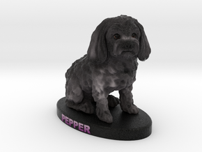 Custom Dog Figurine - Pepper in Full Color Sandstone