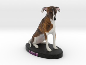 Custom Dog Figurine - Sadie in Full Color Sandstone