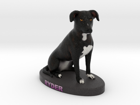 Custom Dog Figurine - Ryder in Full Color Sandstone