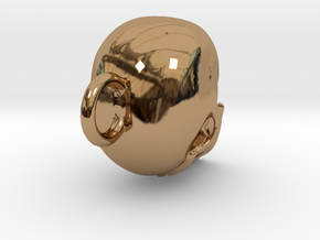 Skull  in Polished Brass
