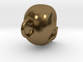 Skull  in Polished Bronze