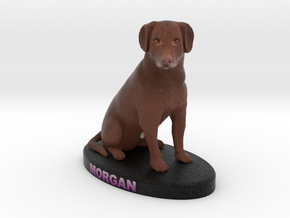 Custom Dog Figurine - Morgan in Full Color Sandstone