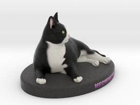 Custom Cat Figurine - Meowingtons in Full Color Sandstone