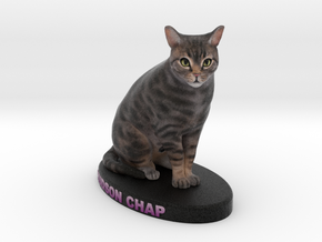 Custom Cat Figurine - Hudson in Full Color Sandstone