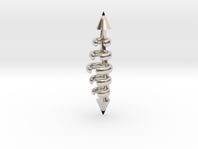 Kasey Spine in Rhodium Plated Brass