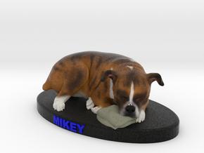 Custom Dog Figurine - Mikey in Full Color Sandstone