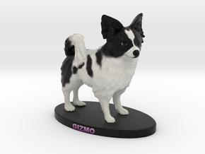 Custom Dog Figurine - Gizmo in Full Color Sandstone