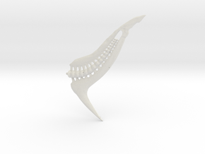 Tail From Shapeways2 Blend1 in White Strong & Flexible