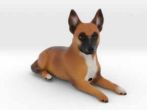 Custom Dog Figurine - G in Full Color Sandstone