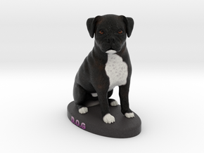Custom Dog Figurine - Dog in Full Color Sandstone