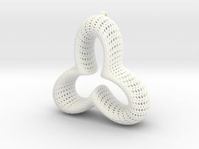 Vornoi Trinity Pendant in White Processed Versatile Plastic