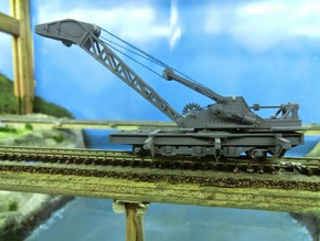 Nz120 (1/5) Craven 40-ton Steam Crane - Chassis in Smoothest Fine Detail Plastic