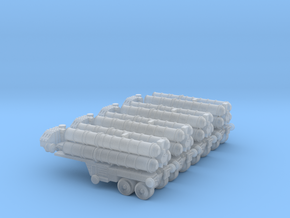 Stowed S-400 Missile Battery 6mm  in Smooth Fine Detail Plastic