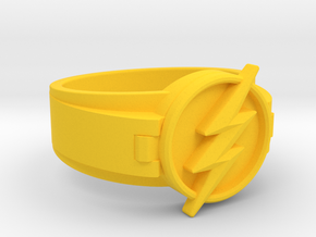 V2 Flash Ring Size 8, 18.19mm in Yellow Processed Versatile Plastic