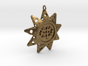 Baha'i Ringstone Symbol Pendant in Natural Bronze