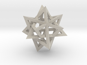 Tetrahedron 4 compound, flat faced struts in Natural Sandstone