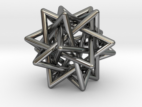 5 Tetrahedron earring in Premium Silver