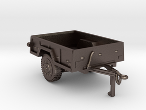M101  trailer for humvee in Polished Bronzed Silver Steel