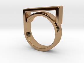 Adjustable ring for men. Model 2. in Polished Brass