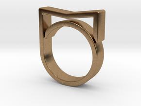Adjustable ring for men. Model 3. in Natural Brass