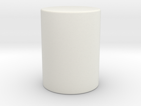 Cylinder in White Natural Versatile Plastic