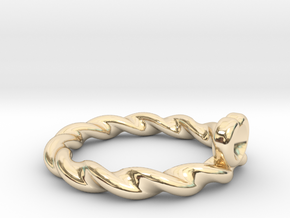 Heart Shape Ring in 14K Yellow Gold