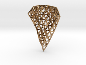 Space Frame Pendent in Polished Brass