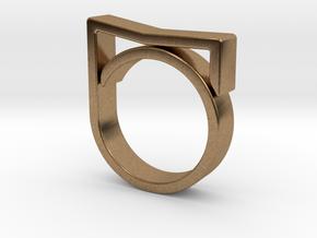 Adjustable ring for men. Model 7. in Natural Brass