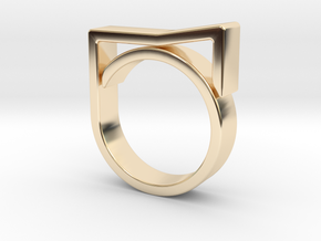 Adjustable ring for men. Model 8. in 14K Yellow Gold