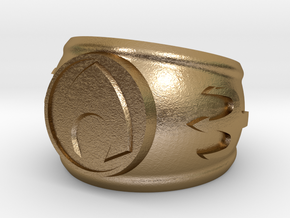 Aquaman Ring size 8 in Polished Gold Steel