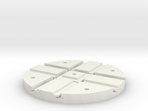 T-12-wagon-turntable-48d-100-1a in White Natural Versatile Plastic